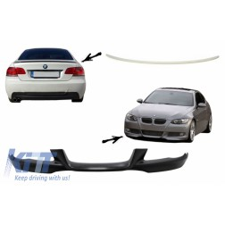 Front Bumper Lip and Rear Trunk Spoiler Lid suitable for BMW 3 Series E92/E93 (2006-2009) Coupe Cabrio M-Tech Sport M3 Design