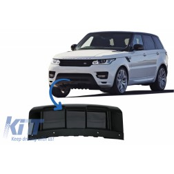 Front Bumper Skid Plate suitable for Land Rover RANGE ROVER SPORT L494 (2013-2017) Piano Black