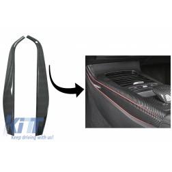 Car Center Console Panel Side Decorative Trim Cover Suitable for Mercedes A-Class W177 V177 (2018-Up) Carbon