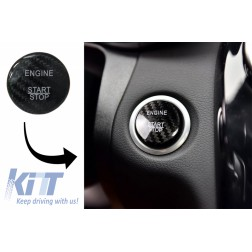 Car Engine Start Button Cover Interior Decoration suitable for MERCEDES A-Class W176 (2012-2017) B-Class W246 (2012-2017) C-Class W205 (2015-2017) W204 (2008-2014) Real Carbon