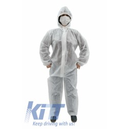 Coverall Overall Dustproof Workwear Jumpsuit 100% polypropylene with Hood Disposable size M/L