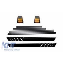 Add On Door Moldings Strips with Side Decals Sticker Vinyl Matte Black and Turning Lights suitable for MERCEDES G-Class W463 (1989-2015)