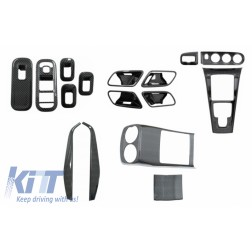 Complet Kit Interior Frames Decorative suitable for Mercedes A W177 V177 (2018-up) with Rear Armrest Box Air Outlet Trim Cover Carbon Film
