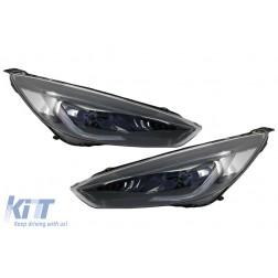Headlights LED DRL suitable for FORD Focus III Mk3 RHD (2015-2017) Bi-Xenon Design Dynamic Flowing Turn Signals Demon Look