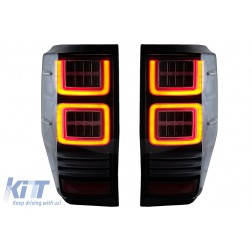 Taillights LED suitable for Ford Ranger (2012-2018) Clear with Sequential Dynamic Turning Lights
