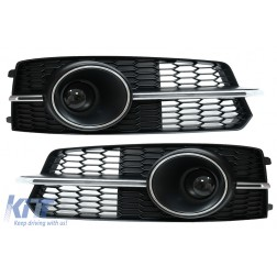 Bumper Lower Grille ACC Covers Side Grilles suitable for AUDI A6 C7 4G S Line Facelift (2015-2018) Chrome Edition