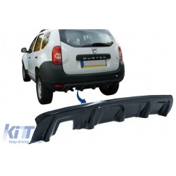 Rear Bumper Skid Plate Protection suitable for DACIA Duster 4x4 / 4x2 (2010-2017) Piano Black