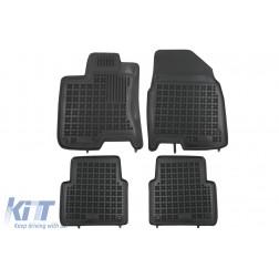 Floor mat Rubber Black suitable for NISSAN QASHQAI +2 I 2008 - 2013