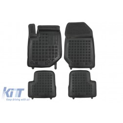 Floor mat Rubber Black suitable for Opel CORSA F VI 2019 -, Peugeot 208 II 2019 -
