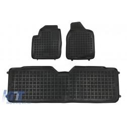 Floor mat Rubber Black suitable for Ford GALAXY I (1995-2006) Seat Alhambra I (1996-2010) VW Sharan I (1995-2010) version 7 passenger