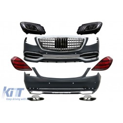 Convesion Body Kit suitable for Mercedes S-Class W222 Facelift (2013-2017) with Headlights and Taillights Full LED