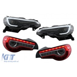 LED Headlights with Taillight Full LED suitable for Toyota 86 (2012-2019) Subaru BRZ (2012-2018) Scion FR-S (2013-2016) with Sequential Dynamic Turning Lights