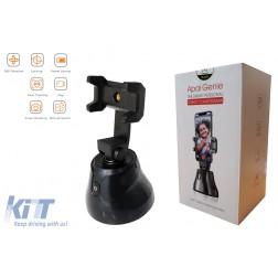 Auto Face Object Tracking Smart Shooting Phone Camera Holder 360 Rotation Mount Selfie Stick for TikTok/YouTube/Live Stream/Makeup