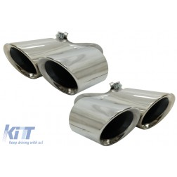 Exhaust Muffler Tips suitable for PORSCHE CAYENNE SUV (9Y0) (2018-up) Chrome