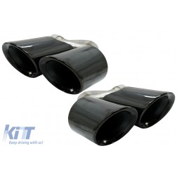 Exhaust Muffler Tips suitable for PORSCHE CAYENNE SUV (9Y0) (2018-up) Black
