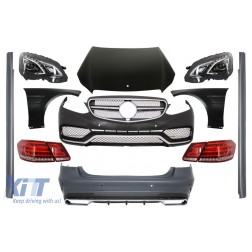 Body Kit with LED Headlights and Light Bar Taillights suitable for MERCEDES E-Class W212 Facelift (2013-2016) E63 Design