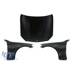 Front Hood Bonnet with Front Fenders Suitable for Mercedes C-Class W205 S205 C205 A205 (2014-2020) C63 Design