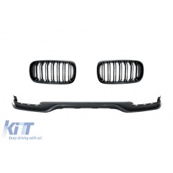Front Bumper Lip with Central Grilles suitable for BMW X5 F15 (2014-2018) Aero Package M Performance Design