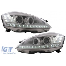 Headlights LED suitable for MERCEDES W221 S-Class (2005-2009) Facelift Look LED