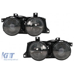 Headlights suitable for BMW 7 Series E32 (1988-1995) 5 Series E34 (1989-1996) Smoked