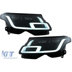 Full LED Headlights suitable for LAND ROVER RANGE ROVER IV VOGUE SUV L405 (2013-2017) Conversion to 2018-up