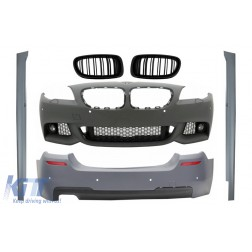 Body Kit suitable for BMW 5 Series F10 (2011-2013) with Central Grilles Kidney and Side Skirts M-Technik Design