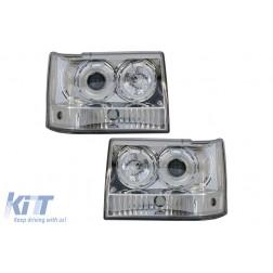 Headlights suitable for Jeep Grand Cherokee I ZJ (1993-1998) Angel Eyes Chrome
