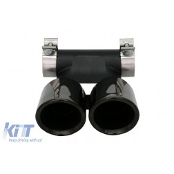 Exhaust Muffler Tips suitable for Porsche 718 Cayman/Boxster (2016-Up) Piano Black