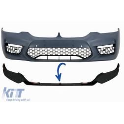 Front Bumper Spoiler suitable for BMW 5 Series G30/G31 Limousine/Touring (2017-up) M5 Design Black