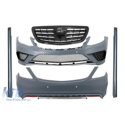 Body Kit with Front Grille Black suitable for Mercedes S-Class W222 (2013-06.2017) S63 Design