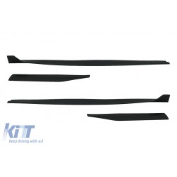 Add-On Side Skirts Extensions Splitters suitable for FORD Mustang Mk6 VI Sixth Generation (2015-2020) GT 500 Design