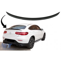 Trunk Boot Spoiler suitable for MERCEDES GLC C253 Coupe (2015-up) Piano Black