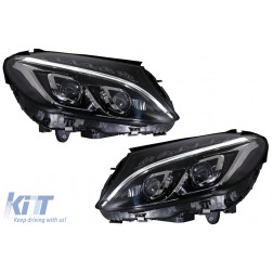 Full LED Headlights suitable for Mercedes Benz C-Class W205 / S205 / A205 / C205 (2014-2018)