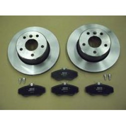 .Brake Discs Front And Pad Kit Axle Set D2 (Britpart) SDB000380KIT