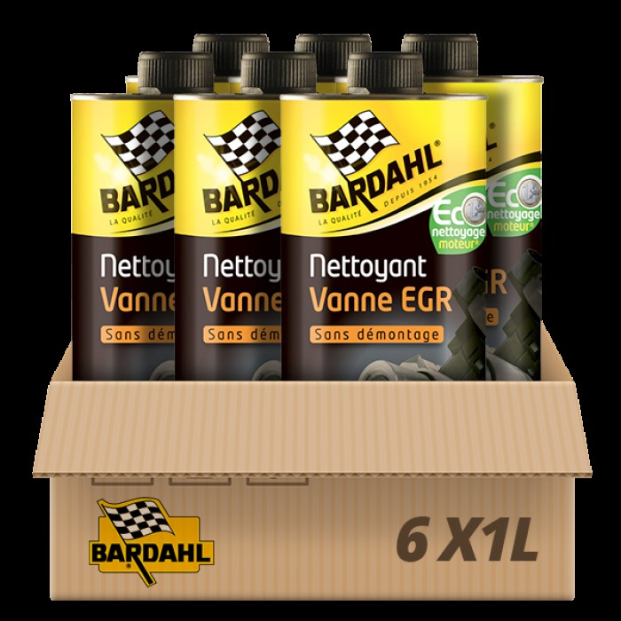 Pack 6 Nettoyants Vanne EGR sans démontage Bardahl